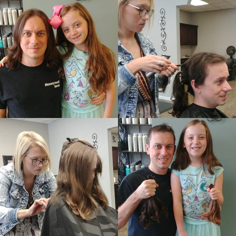 Deux ans pour pouvoir honorer sa promesse et donner ses cheveux en même temps que sa fille