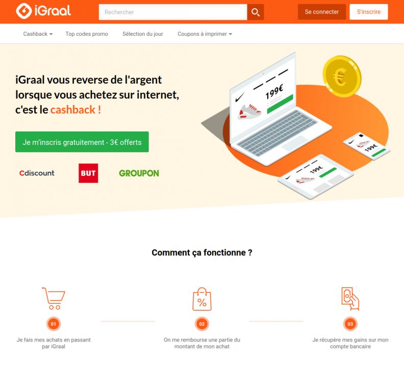 iGraal : récupérer de l'argent sur vos achats en ligne
