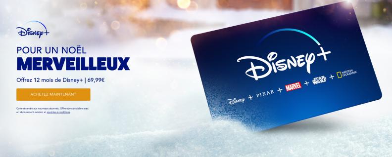 Bon plan : la carte cadeau Disney+