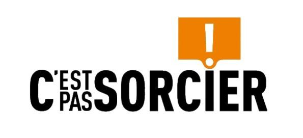 C'est pas sorcier : le logo d'une émission culte de vulgarisation scientifique