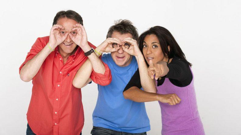 Frédéric Courant, Jamy Gourmaud et Sabine Quindou : le trio de C'est pas sorcier