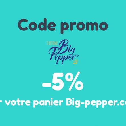 Bon plan : 5% de remise sur votre panier Big Pepper