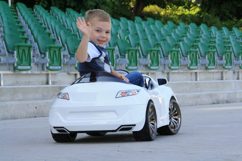 FEBER Voiture Electrique pour Enfant Range Rover Rouge Avec télécommandée parentale Batterie 6V