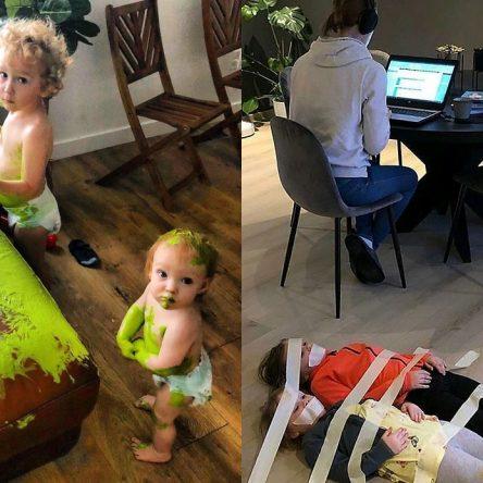20 images drôles des parents épuisés en plein confinement