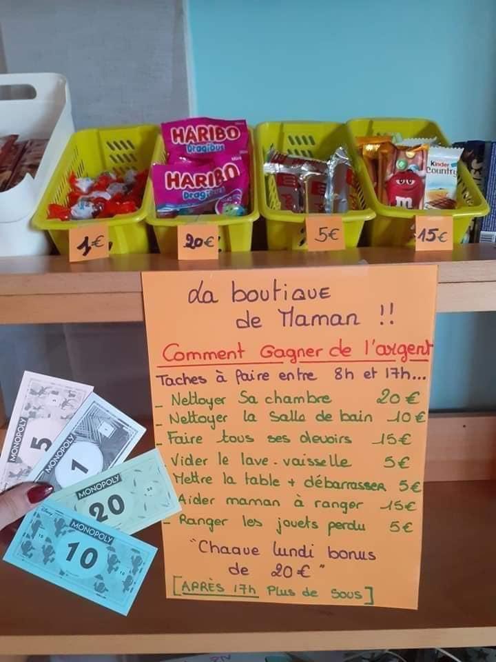 Une maman française reprend l'idée des tâches gratifiantes : photo 1