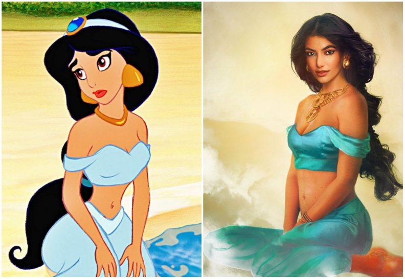 Les princes et princesses Disney dans la vraie vie par Jirka Vinse Jonatan Väätäinen : Jasmine dans Aladdin