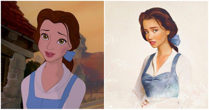Les princes et princesses Disney dans la vraie vie par Jirka Vinse Jonatan Väätäinen : la belle, Belle, dans La belle et la bête