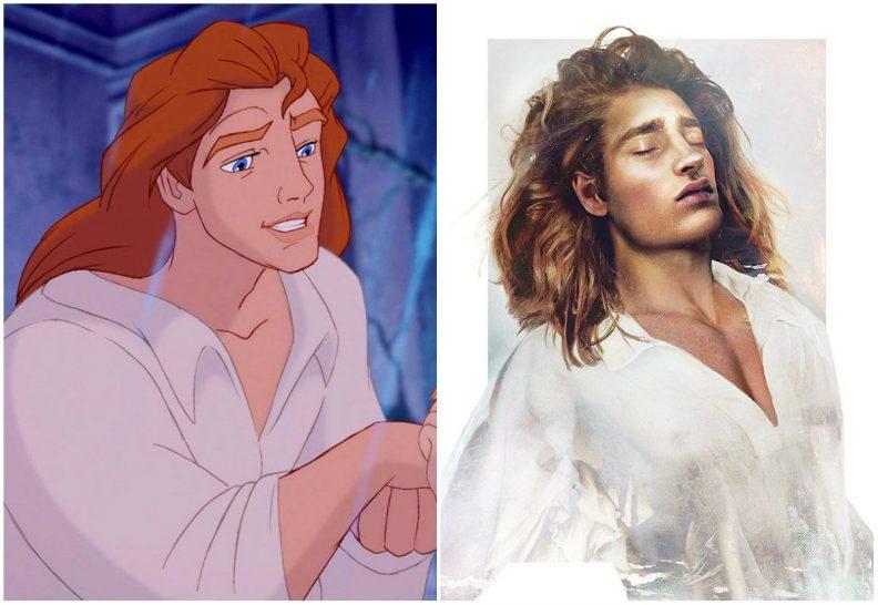 Les princes et princesses Disney dans la vraie vie par Jirka Vinse Jonatan Väätäinen : la bête, le prince Adam, dans La belle et la bête