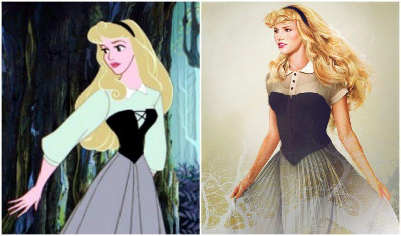 Les princes et princesses Disney dans la vraie vie par Jirka Vinse Jonatan Väätäinen : la princesse Aurore dans La belle au bois dormant