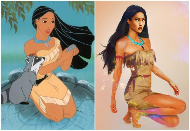 Les princes et princesses Disney dans la vraie vie par Jirka Vinse Jonatan Väätäinen : Pocahontas