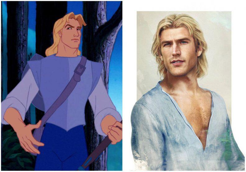 Les princes et princesses Disney dans la vraie vie par Jirka Vinse Jonatan Väätäinen : John Smith dans Pocahontas