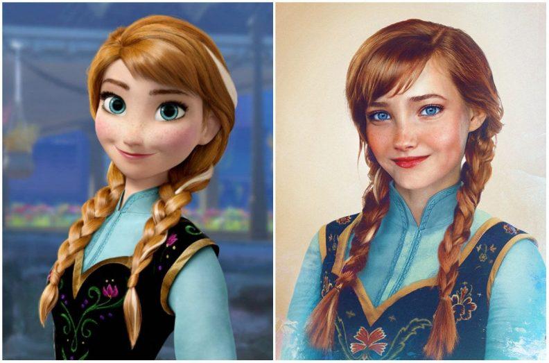 Les princes et princesses Disney dans la vraie vie par Jirka Vinse Jonatan Väätäinen : Anna dans la Reine des neiges