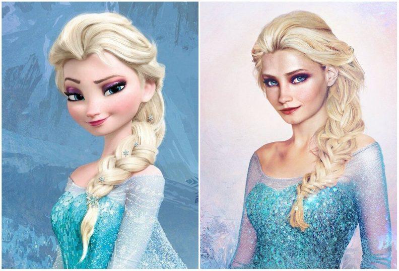 Les princes et princesses Disney dans la vraie vie par Jirka Vinse Jonatan Väätäinen : Elsa dans la Reine des neiges