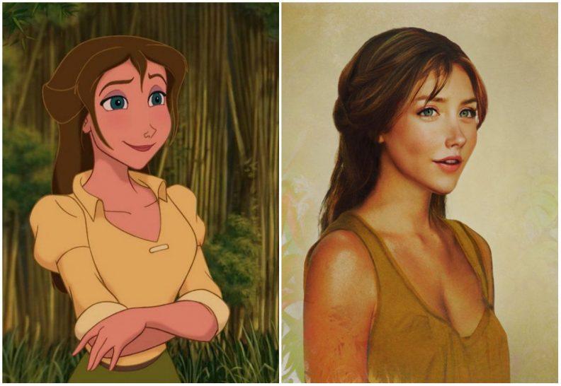 Les princes et princesses Disney dans la vraie vie par Jirka Vinse Jonatan Väätäinen : Jane dans Tarzan