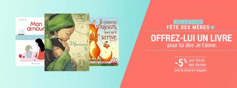 Fête des mères via Culture d'E. Leclerc : livre
