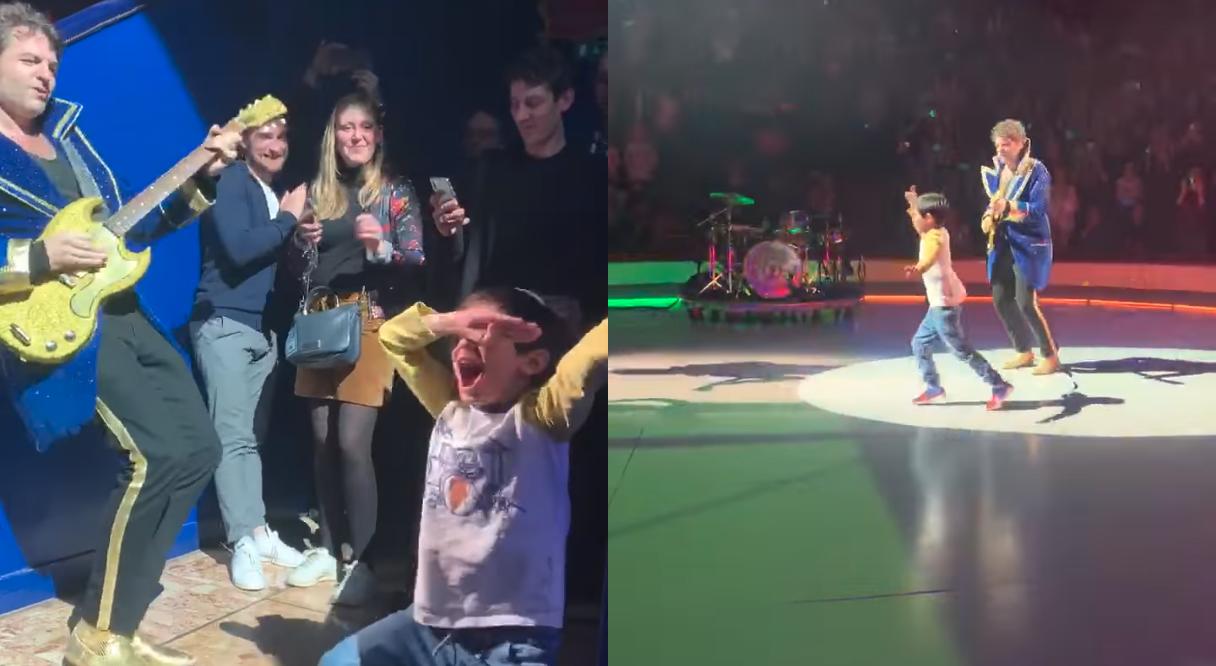 Buzz : Matthieu Chedid -M- se fait voler la vedette sur scène par un enfant survolté