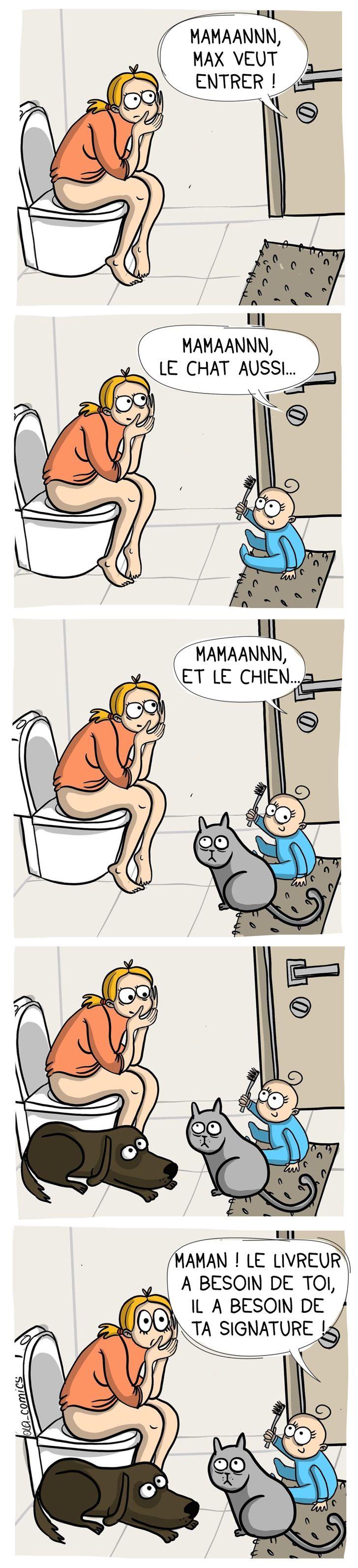 Olga Alekseeva : Les toilettes version maman