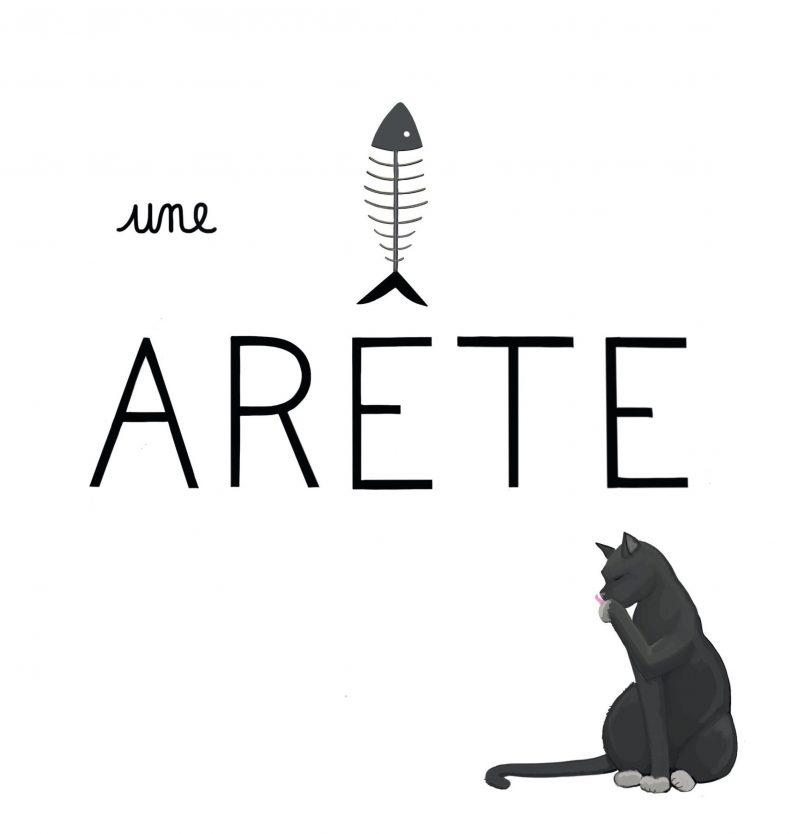 """Un petit dessin vaut mieux qu'une grande leçon de Sandrine Campese : le """"Ê"""" du mot arête"""