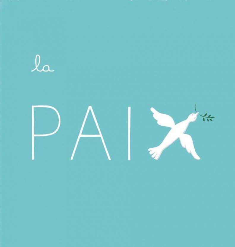 """Un petit dessin vaut mieux qu'une grande leçon de Sandrine Campese : le """"X"""" du mot paix"""