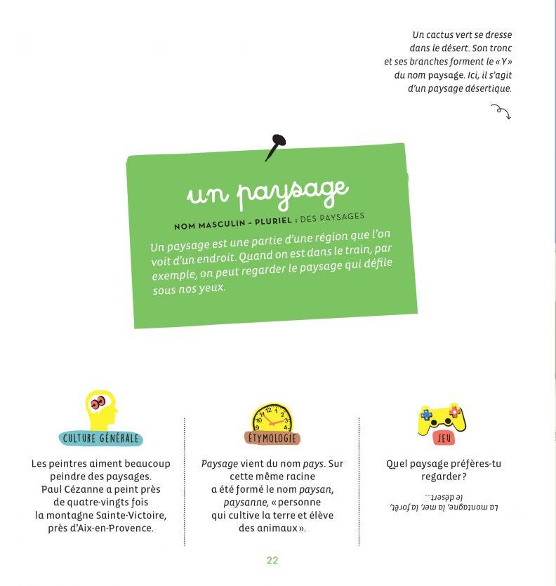 Un petit dessin vaut mieux qu'une grande leçon de Sandrine Campese : l'explication de l'orthographe du mot Paysage