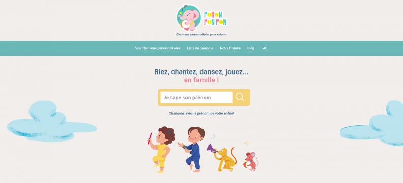 Poronponpon Music : un album avec 5 chansons personnalisées avec le prénom de votre enfant