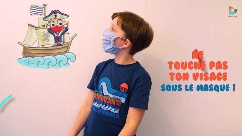 """Tutoriel vidéo : apprendre aux enfants à mettre un masque en 1'25"""""""