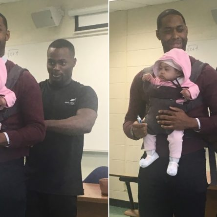 Un étudiant n'a pas trouvé de baby-sitter alors son professeur a fait ça